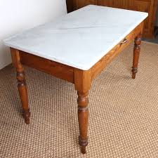 Vintage Italian Marble Top Kitchen Table Fatto A Mano Antiques
