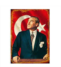 Ahşap Tablo Mustafa Kemal Atatürk- Çiçeksepeti