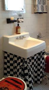 bathroom sink skirt diy corner ties wide x long by black and white full size
