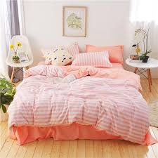 pink white stripes bedding sets high quality luxury soft comfortable twin full queen king bed duvet cover flat sheet pillowcases duvet covers blue duvet set