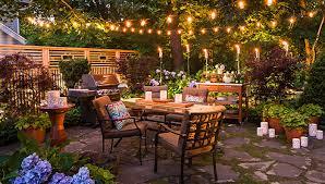 outdoor table lighting ideas. patio arranged for entertaining after dark outdoor table lighting ideas c