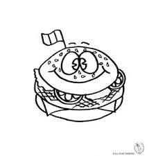 Disegno Di Panino Hamburger Da Colorare Disegni Di Alimenti Da