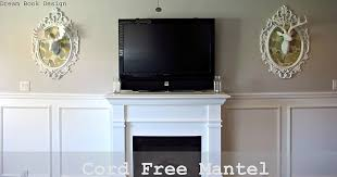 cord free mantel how to hide your cable box system