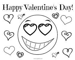Apart from being creative, artistic, and perfect for valentine's day, these coloring pages are free and downloadable. Cjo Photo Valentine S Day Coloring Page Happy Valentine S Day Emoji