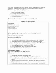 Cdl Resume Luxury 19 Cdl Class A Truck Driver Resume Sample Free