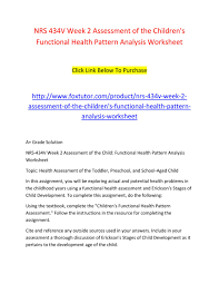 Functional Health Patterns Inspiration Children's Functional Health Pattern Assessment Essay Academic