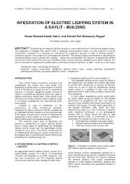 integration of electric lighting system in a daylit building pdf available