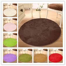 100x100 pure colour soft round gy mat doorsill floor plush carpet anti slip bath rug