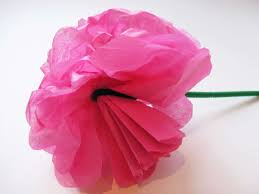 Making Flower Using Crepe Paper Simple Steps To Craft Tissue Paper Flowers