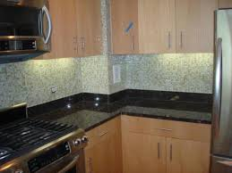 Clear Glass Backsplash Kitchen Gray Glass Subway Tile Backsplash In Cream Kitchen