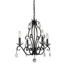 filament design queen 4 light matte black chandelier
