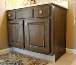 Chocolate Glaze Kitchen Cabinets How To Glaze A Cabinet Using Stain Jenna Burger