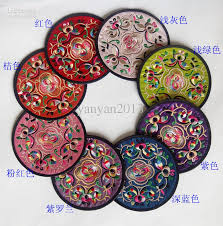 2018 Cheap Wedding Coasters Unique Round Embroidered Design Mix Color  Beautiful Hand Embroidered Cup Coaster Mug Coasters Birthday Gifts For Heri  From ...