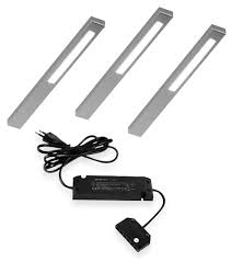 Slim Led Onderbouw Set 12v Lvset3slimi Set Van 3 Led Spots Inox
