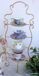 Tea Cup Display Stand Stunning Teacup Stand Display IRON Tea Cup Saucer Display Stand 32 Tiered