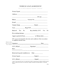Simple Personal Loan Agreement Template Free Auto Strand