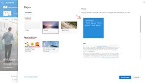 Sharepoint 2013 Site Templates A First Look To The Modern Page Templates In Sharepoint Online