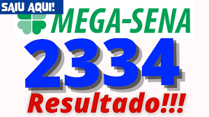 Resultado da Mega Sena 2334 - YouTube