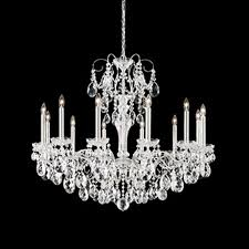 schonbek st1849n 48s sonatina 12 light crystal chandelier in antique silver with crystal from swarovski