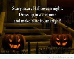 scary halloween night quote picture