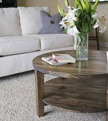 round coffee table pine main palets