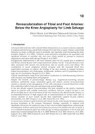 academic paper revascularization of tibial and foot arteries academic paper revascularization of tibial and foot arteries below the knee angioplasty for limb salvage
