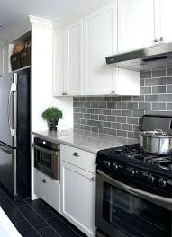awful modern white kitchen with grey subway tiles for a contrasting look pictures inspirations