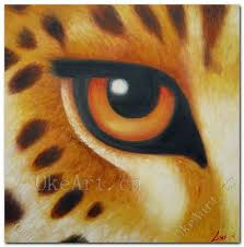 hand painted modern oil painting on canvas animal painting tiger eye home decoration living room wall