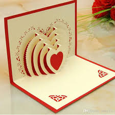 whole new 3d laser cut wedding invitations hallow out loving heart valentine s greeting cards