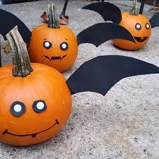no carve pumpkin bats
