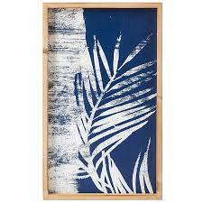 solace blue white palm wall art a