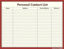 client contact list template microsoft excel phone list template customer contact te in client