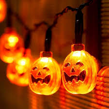 Diy Halloween Light Show Katomi Battery Operated String Light With Pumpkin 20 Leds 7 2ft Fair Light For Diy Halloween Decoration M Ld067