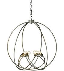 hubbardton forge 103307 1008 orb 6 light 23 inch soft gold chandelier ceiling light photo