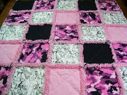 Pink Camo sketch Rag Quilt blanket girl baby/toddler blanket ... & Pink Camo sketch Rag Quilt blanket girl baby/toddler blanket DISCOUNTED Adamdwight.com