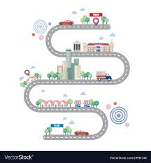 City Road Infographic Template Royalty Free Vector Image