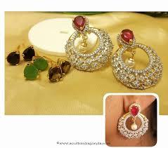 fancy imitation earrings with interchangable stones