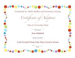 Birth Certificate Maker Template Dog Pet Rock Sample For Badminton