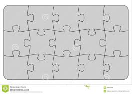 Parts Of Paper Puzzles Business Concept Template Layout Stock