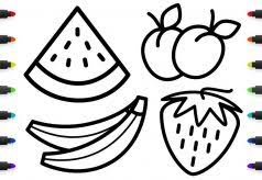 Apple Coloring Pages For Kindergarten With Sheets Also Fruits And