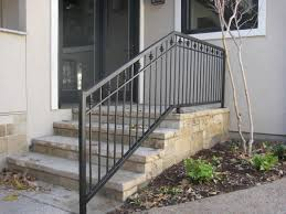 metal handrails for deck stairs. wrod irion deck rail | commercial handrails iron railings provide safety and security metal for stairs t