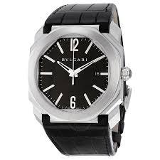 bvlgari octo solotempo automatic black dial black leather men s bvlgari octo solotempo automatic black dial black leather men s watch 101964