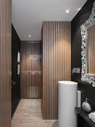 bathroom wood vanity. bathroom, wood in bathroom floor featuring silver finish varnished wooden vanity cabinet clear tempered glass