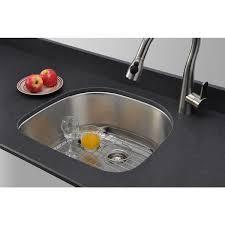 wells sinkware 16 gauge d shape single bowl undermount stainless steel kitchen sink