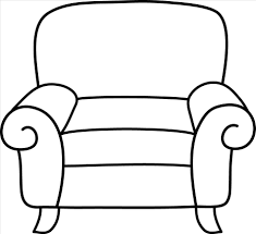 the images collection of chair furniture clipart black and white with armchair clipart black and white