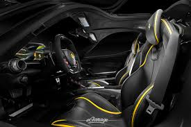 Yellow Ferrari LaFerrari Interior  K