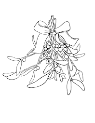 Small Picture Free Mistletoe Coloring Page