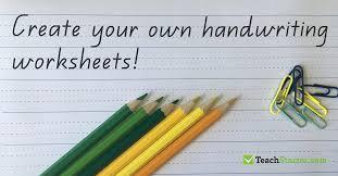 The Best Handwriting Worksheet Generator! - Teach Starter Blog