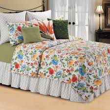 sabrina multicolored floral quilt bedding