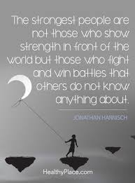 Mental Health Quotes Inspiration Mental Health Stigma Quote The Strongest People Are Not Those Who
